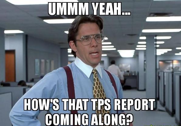 Lumbergh TPS Report