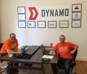 Sirenum co-founders Joshua Pines and Benjamin Rubin in the Dynamo offices