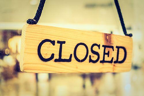 first job business closedown