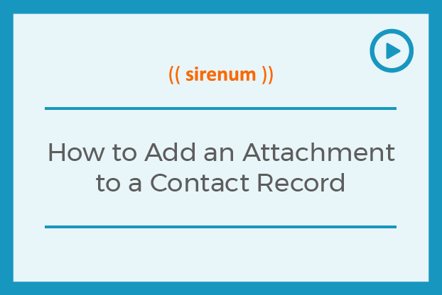 How to Add an Attachment to a Contact Record