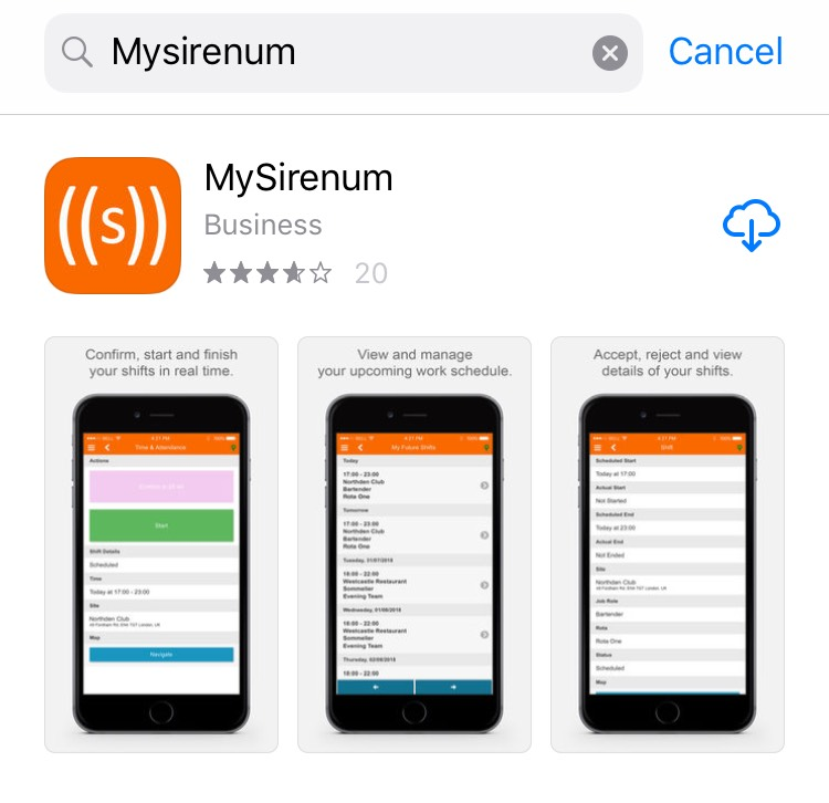 MySirenum - Installing the App - Sirenum